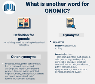 gnomic, synonym gnomic, another word for gnomic, words like gnomic, thesaurus gnomic