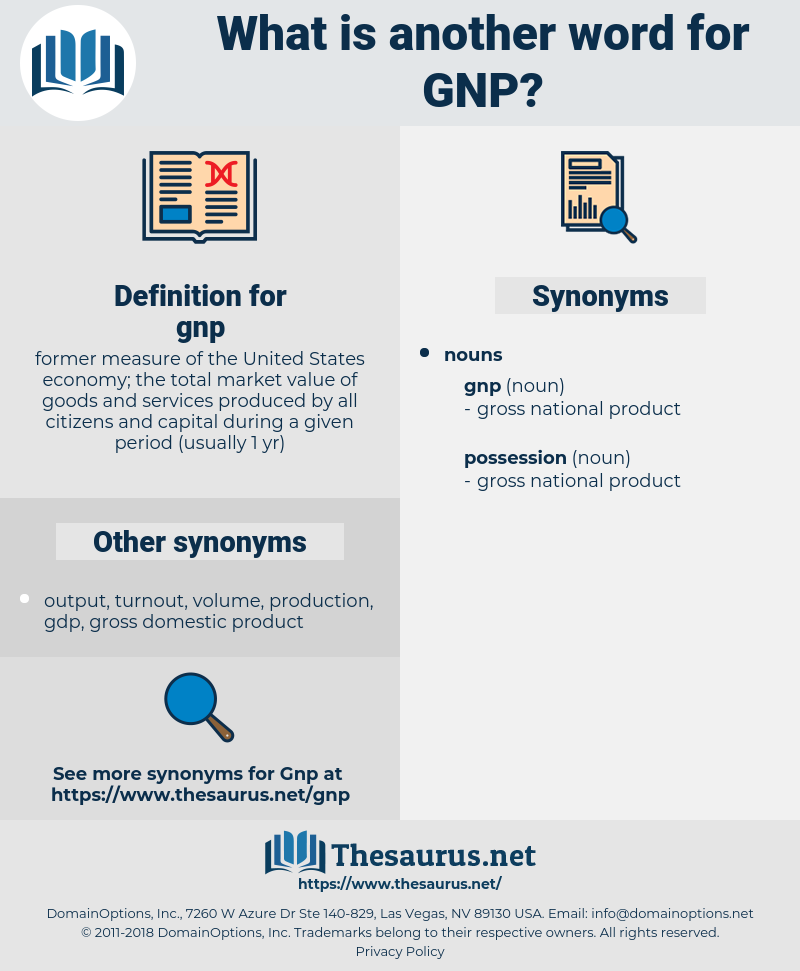 gnp, synonym gnp, another word for gnp, words like gnp, thesaurus gnp