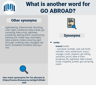 go abroad, synonym go abroad, another word for go abroad, words like go abroad, thesaurus go abroad