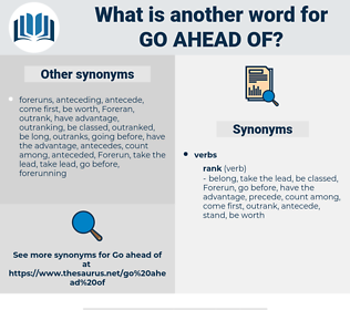 go ahead of, synonym go ahead of, another word for go ahead of, words like go ahead of, thesaurus go ahead of
