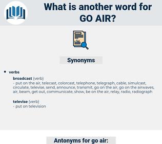 go air, synonym go air, another word for go air, words like go air, thesaurus go air