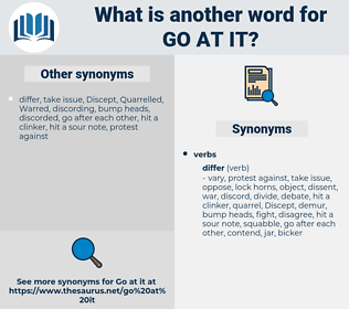 go at it, synonym go at it, another word for go at it, words like go at it, thesaurus go at it