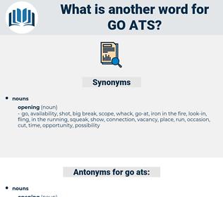 go-ats, synonym go-ats, another word for go-ats, words like go-ats, thesaurus go-ats
