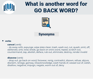 go back word, synonym go back word, another word for go back word, words like go back word, thesaurus go back word