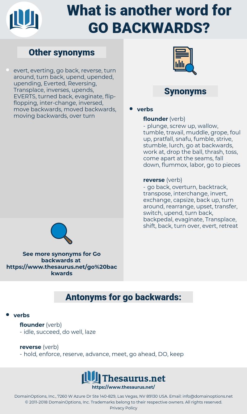 go backwards, synonym go backwards, another word for go backwards, words like go backwards, thesaurus go backwards