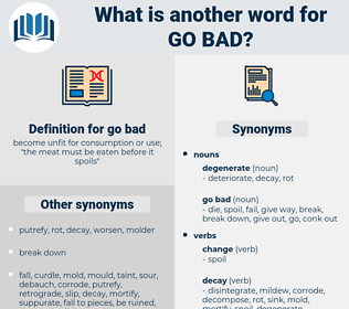 go bad, synonym go bad, another word for go bad, words like go bad, thesaurus go bad