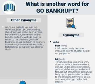 go bankrupt, synonym go bankrupt, another word for go bankrupt, words like go bankrupt, thesaurus go bankrupt