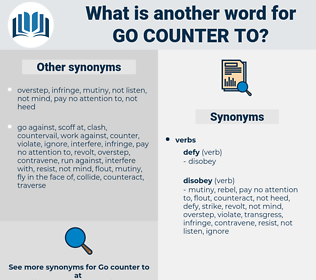 go counter to, synonym go counter to, another word for go counter to, words like go counter to, thesaurus go counter to