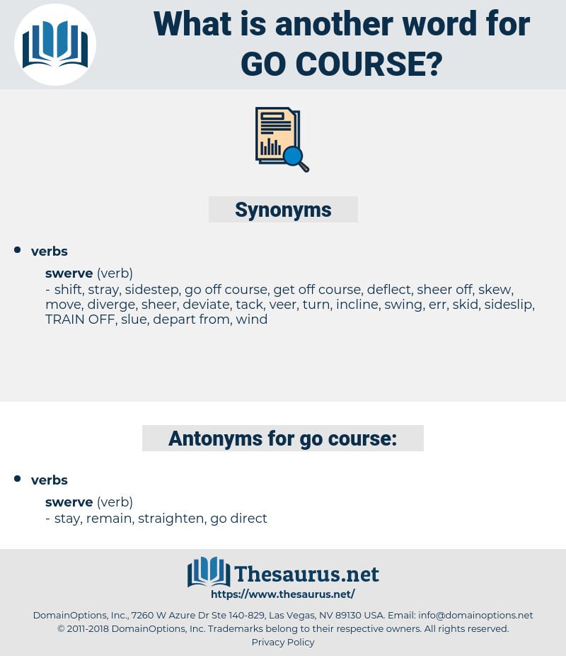 go course, synonym go course, another word for go course, words like go course, thesaurus go course