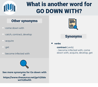 go down with, synonym go down with, another word for go down with, words like go down with, thesaurus go down with
