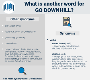 go downhill, synonym go downhill, another word for go downhill, words like go downhill, thesaurus go downhill
