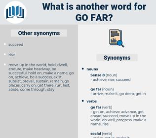 go far, synonym go far, another word for go far, words like go far, thesaurus go far
