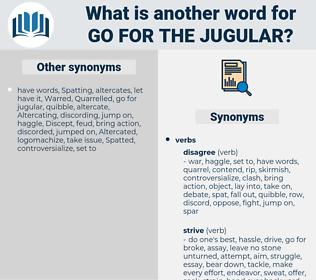 go for the jugular, synonym go for the jugular, another word for go for the jugular, words like go for the jugular, thesaurus go for the jugular