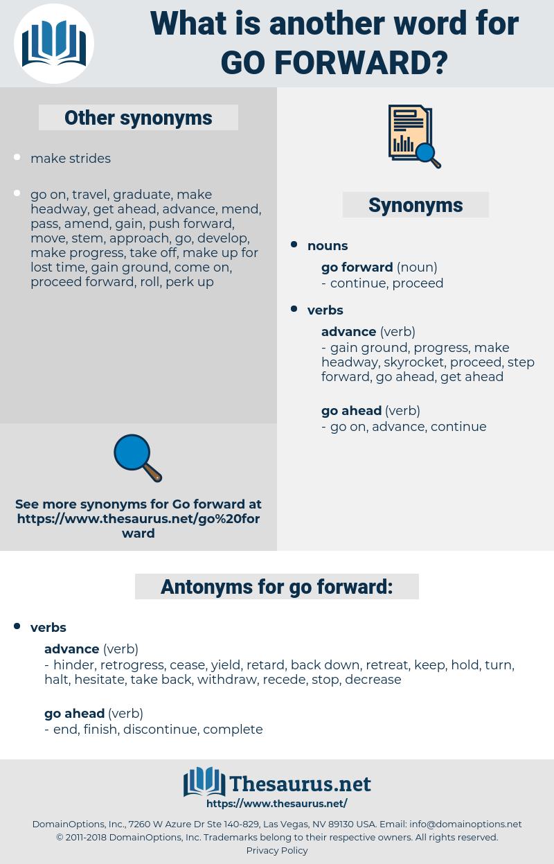 go forward, synonym go forward, another word for go forward, words like go forward, thesaurus go forward