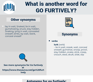 go furtively, synonym go furtively, another word for go furtively, words like go furtively, thesaurus go furtively