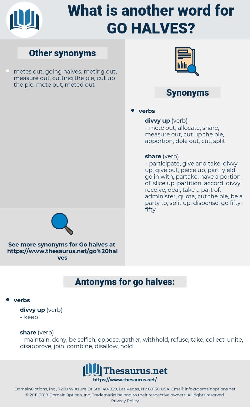 go halves, synonym go halves, another word for go halves, words like go halves, thesaurus go halves