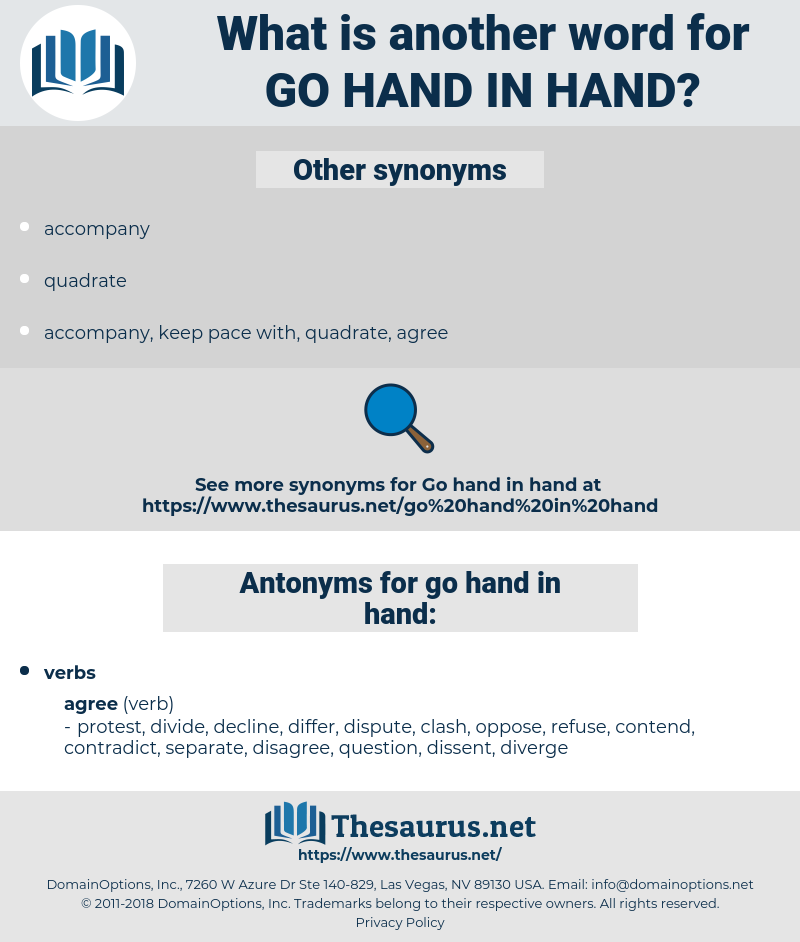 go hand in hand, synonym go hand in hand, another word for go hand in hand, words like go hand in hand, thesaurus go hand in hand