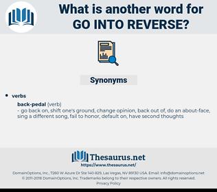 go into reverse, synonym go into reverse, another word for go into reverse, words like go into reverse, thesaurus go into reverse