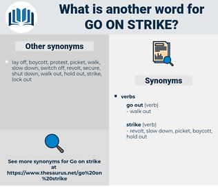 go on strike, synonym go on strike, another word for go on strike, words like go on strike, thesaurus go on strike