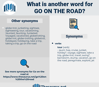 go on the road, synonym go on the road, another word for go on the road, words like go on the road, thesaurus go on the road