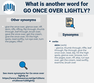 go once over lightly, synonym go once over lightly, another word for go once over lightly, words like go once over lightly, thesaurus go once over lightly