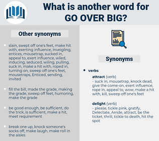 go over big, synonym go over big, another word for go over big, words like go over big, thesaurus go over big