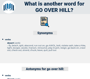 go over hill, synonym go over hill, another word for go over hill, words like go over hill, thesaurus go over hill