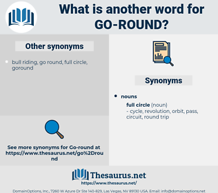 go round, synonym go round, another word for go round, words like go round, thesaurus go round
