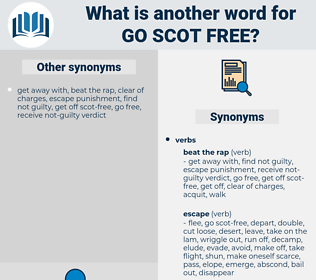 go scot free, synonym go scot free, another word for go scot free, words like go scot free, thesaurus go scot free