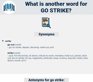 go strike, synonym go strike, another word for go strike, words like go strike, thesaurus go strike