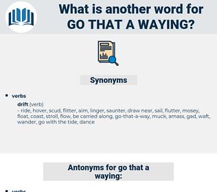 go-that-a-waying, synonym go-that-a-waying, another word for go-that-a-waying, words like go-that-a-waying, thesaurus go-that-a-waying
