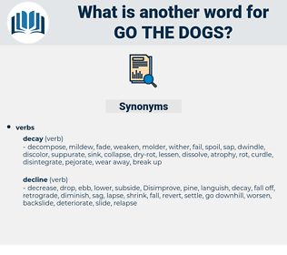 go the dogs, synonym go the dogs, another word for go the dogs, words like go the dogs, thesaurus go the dogs