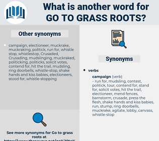 go to grass roots, synonym go to grass roots, another word for go to grass roots, words like go to grass roots, thesaurus go to grass roots