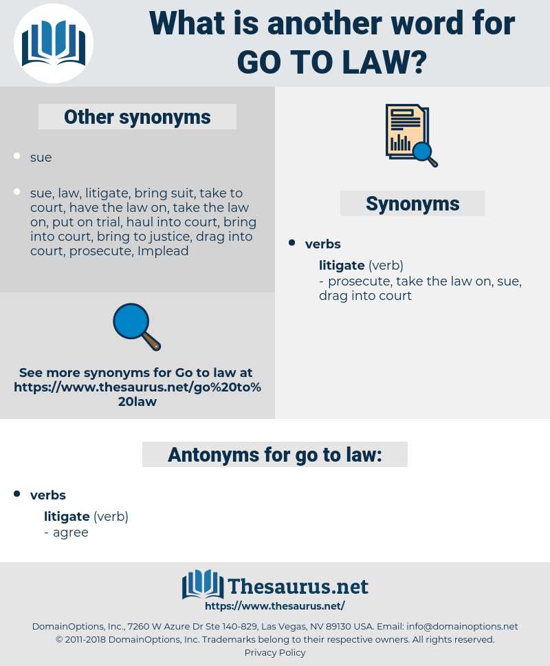 go to law, synonym go to law, another word for go to law, words like go to law, thesaurus go to law