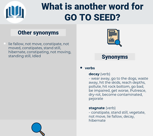 go to seed, synonym go to seed, another word for go to seed, words like go to seed, thesaurus go to seed