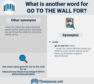go to the wall for, synonym go to the wall for, another word for go to the wall for, words like go to the wall for, thesaurus go to the wall for