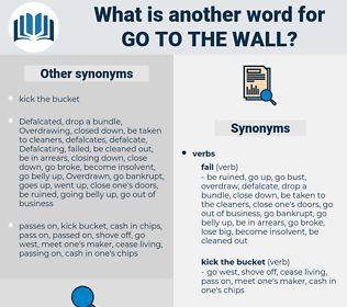 go to the wall, synonym go to the wall, another word for go to the wall, words like go to the wall, thesaurus go to the wall