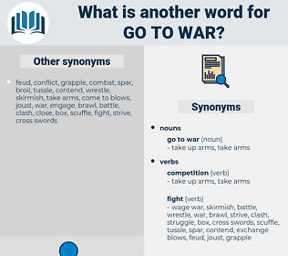 go to war, synonym go to war, another word for go to war, words like go to war, thesaurus go to war