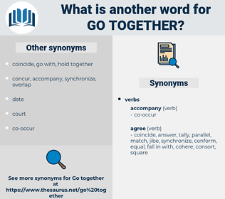 go together, synonym go together, another word for go together, words like go together, thesaurus go together
