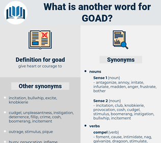 goad, synonym goad, another word for goad, words like goad, thesaurus goad