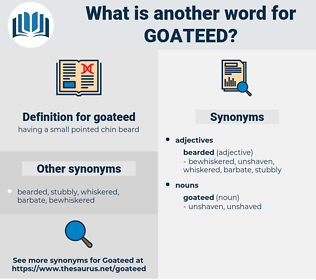 goateed, synonym goateed, another word for goateed, words like goateed, thesaurus goateed