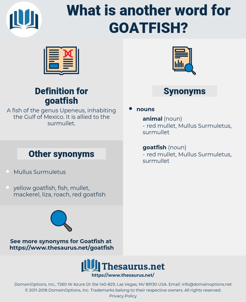 goatfish, synonym goatfish, another word for goatfish, words like goatfish, thesaurus goatfish