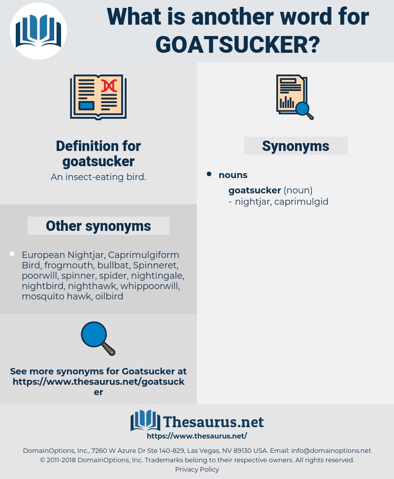 goatsucker, synonym goatsucker, another word for goatsucker, words like goatsucker, thesaurus goatsucker