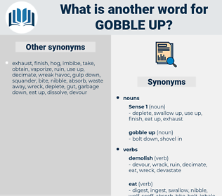 gobble up, synonym gobble up, another word for gobble up, words like gobble up, thesaurus gobble up