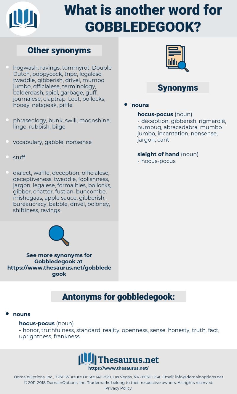 gobbledegook, synonym gobbledegook, another word for gobbledegook, words like gobbledegook, thesaurus gobbledegook