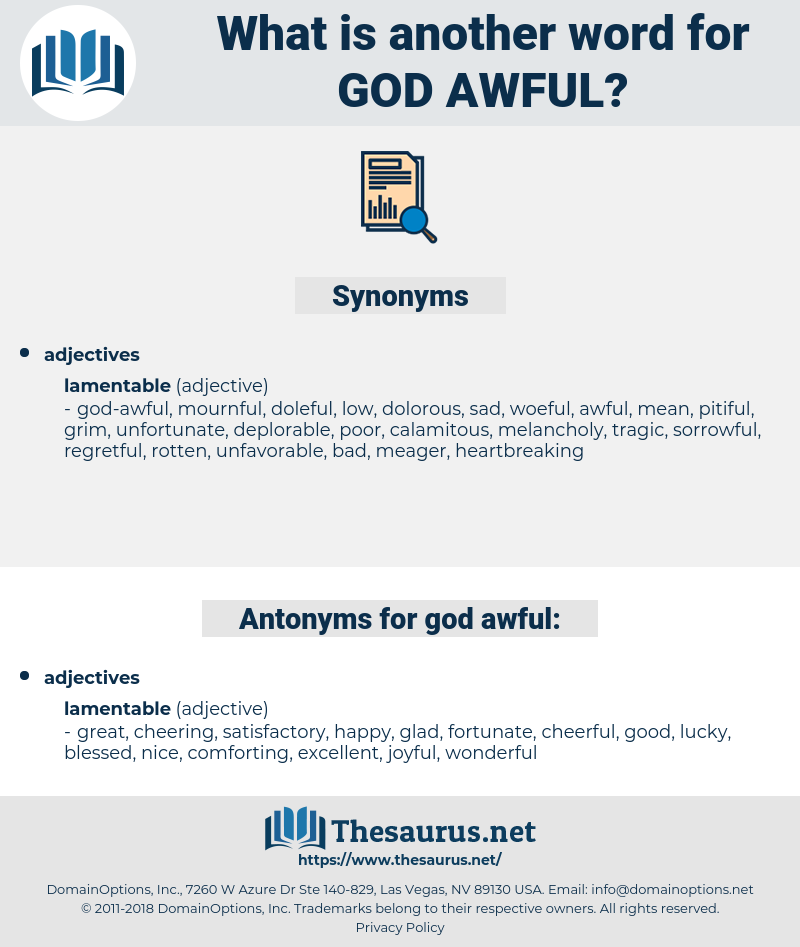 god-awful, synonym god-awful, another word for god-awful, words like god-awful, thesaurus god-awful