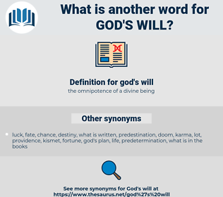 god's will, synonym god's will, another word for god's will, words like god's will, thesaurus god's will