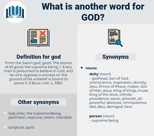 god, synonym god, another word for god, words like god, thesaurus god