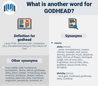 godhead, synonym godhead, another word for godhead, words like godhead, thesaurus godhead