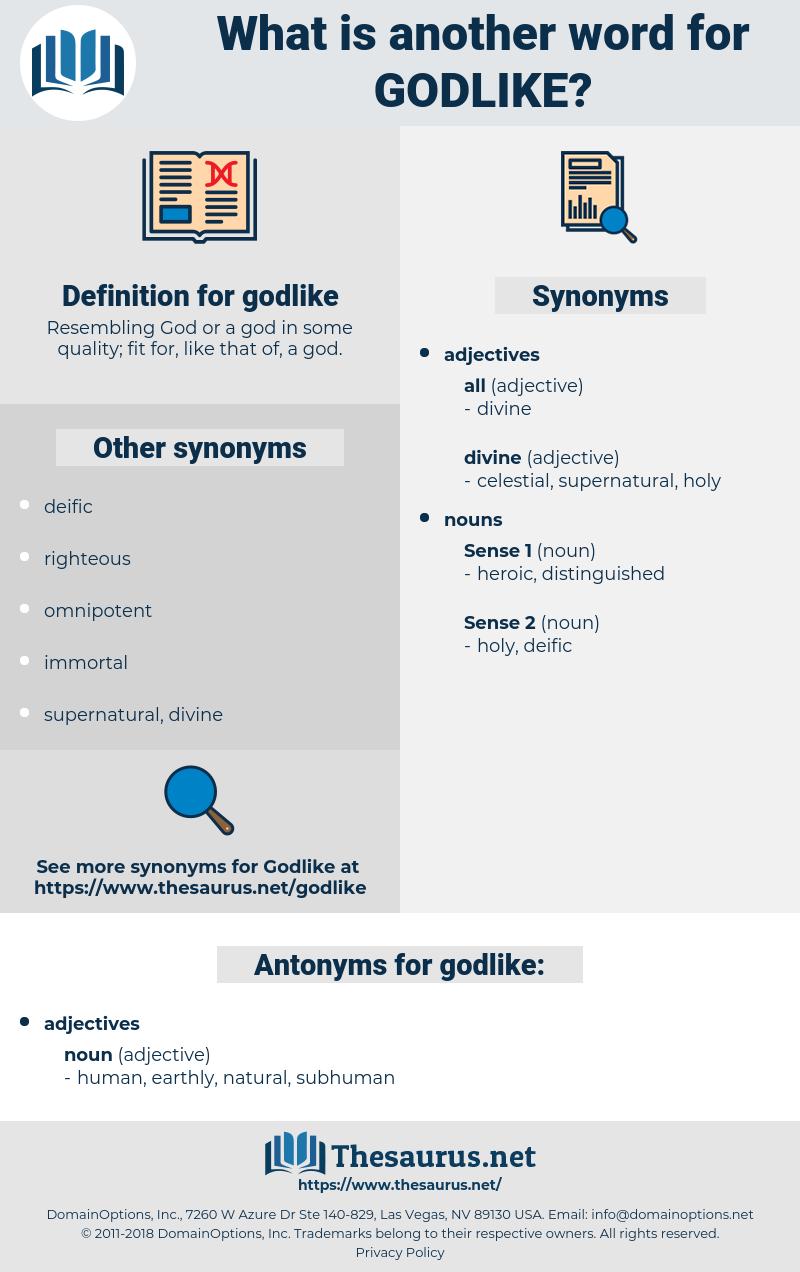 godlike, synonym godlike, another word for godlike, words like godlike, thesaurus godlike